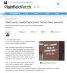 Plainfield Patch.com Announces New Will County Health Website