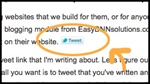 Add a clicktotweet link in an EasyDNNnews article