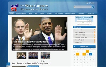 New Website Look for Will County Democrats