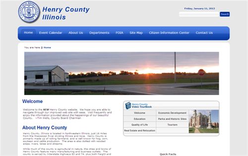 Henry County Energizes their Web Presence